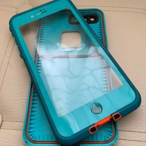 LifeProof iPhone 7Plus FRE Case in Teal/Orange